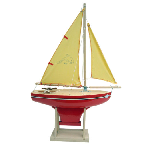 Large Red & Gold Toy Sailing Boat