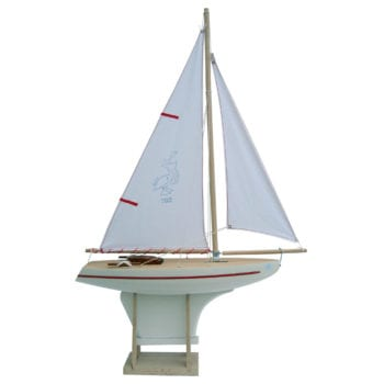 Wooden Toy Sailing Boat Polar White Little French Heart