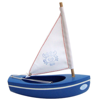 Toy sailing boat blue 200