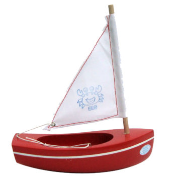 Sailing boat red 200