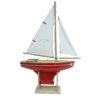 Toy sailing boat red 400
