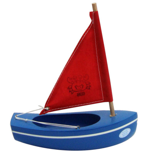 Sailing boat blue and red 200