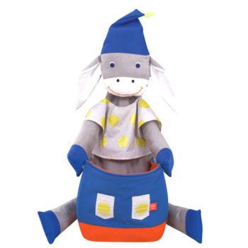 Donkey pouffe blue