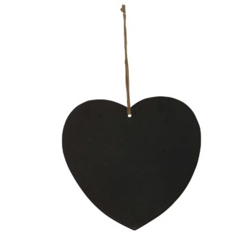 French heart chalkboard