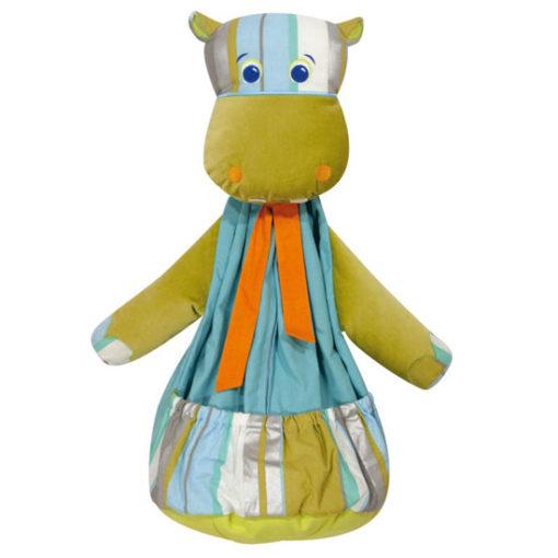 L'Oiseau Bateau Kids Green Hippo Pyjama Bag