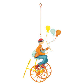 Triple-balloons-orange French hanging mobile