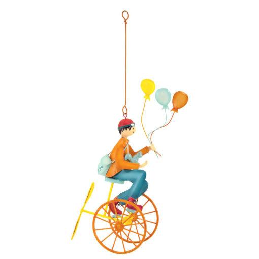 Triple-balloons-orange French hanging mobile
