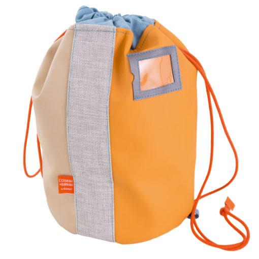 Little-French-Heart-Le-Sports-Bag-Orange-image, Hats & Bags