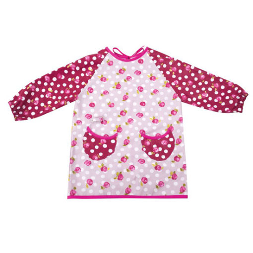 Little French Heart - Roses pourpres art smock