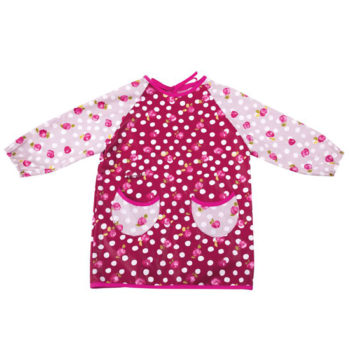 Little French Heart - pretty art smock with small flowers