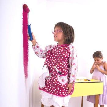 Roses des sables child's art smock