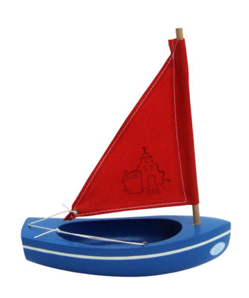 Little French Heart toy sailing boat 201 blue-red