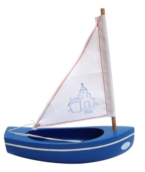 Small toy wooden boat