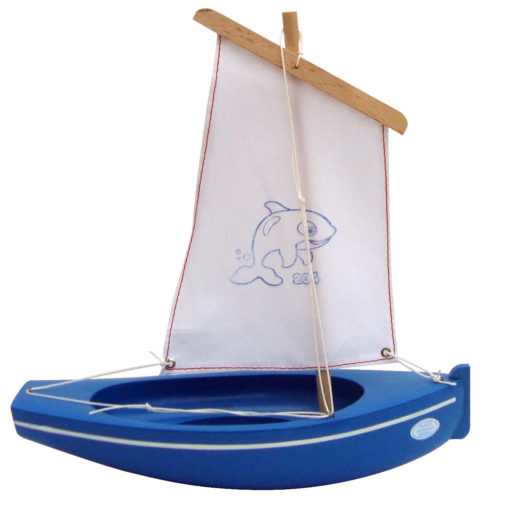 Little French Heart-wooden-toy-sailing-boat-blue-white-204-image