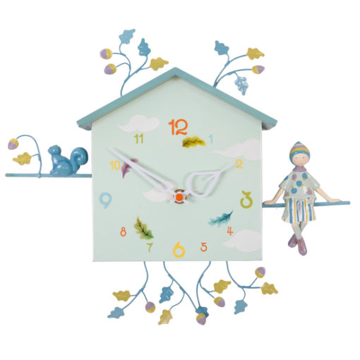 The-boy-and-the-squirrel-children's-French-wall-clock