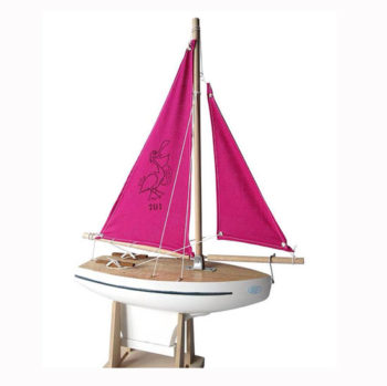 Toy Wooden Waterproof Sailing Boat, toy-sailling-boat-701-rose