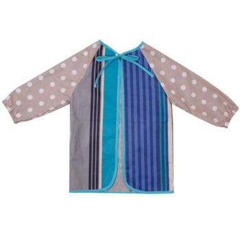 French Blue Art Smock Back