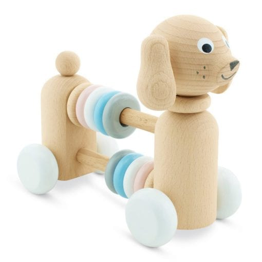 Wooden Dog with Beads Push and Pull Toy, toys for children