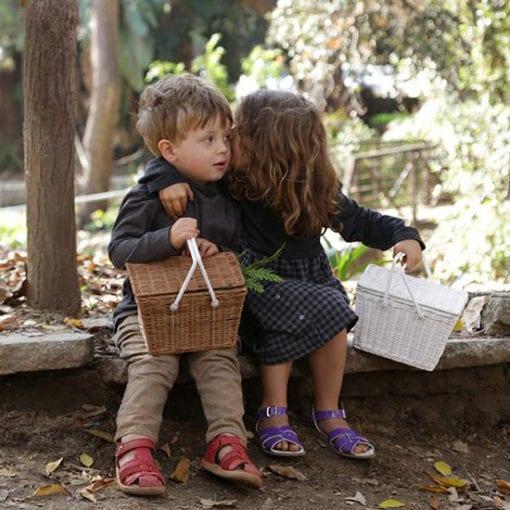 Olli-Ella-Kids-Vintage-Rattan-Piki-Basket-Naturl-girl-and-boy, Olli Ella Kids Vintage Rattan Piki Basket Natural