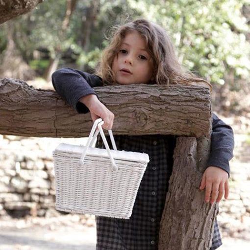 Olli Ella Piki Basket White