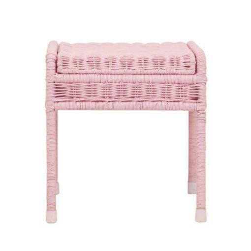 Olli-Ella-Kids-Vintage-Rattan-Storie-Stool-pink-front
