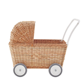 Olli-Ella-Kids-Vintage-Rattan-Strolley-Pram-Natural--sideways