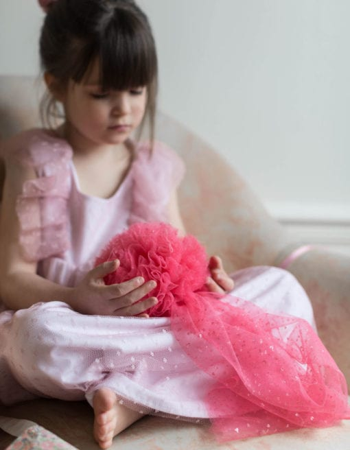 Paris-Romance-Plumeti-Tulle-Girls-Dress-Rose-glitter-pom-pom