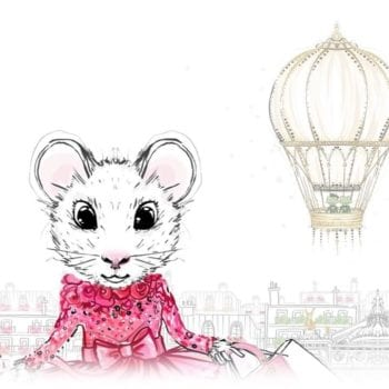 Claris the Chicest Mouse in Paris hot air balloon