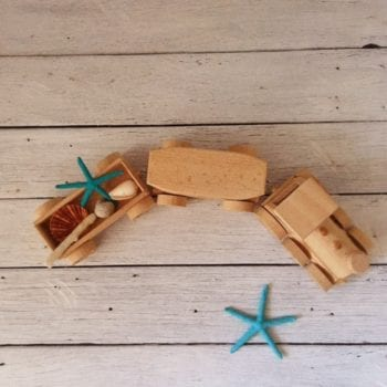 Traditional Wooden Toy Train Set