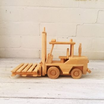 Traditional Wooden Toy Forklift