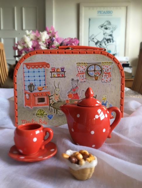 Moulin Roty Little Red Ceramic Kids Tea Set
