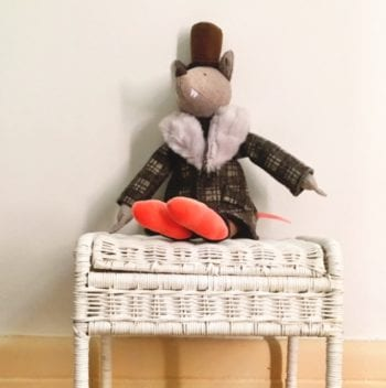 Moulin Roty The Gentleman Wolf and Storie Stool