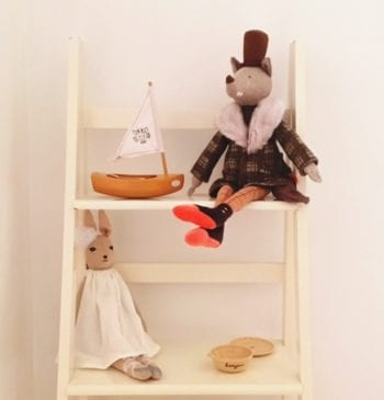 Moulin Roty The Gentleman Wolf and Toy Wooden Boat