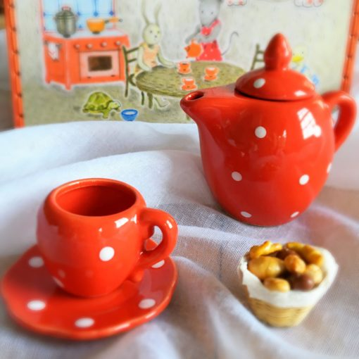 Moulin Roty Little Red French Ceramic Child's Tea Set