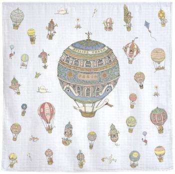 Atelier Choux Paris Organic Baby Wrap Hot Air Balloons