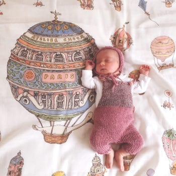 Atelier Choux Paris Organic Baby Wrap Hot Air Balloons baby