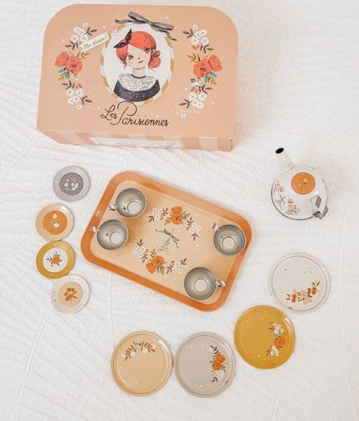 Moulin Roty Les Parisiennes Tin Tea Set