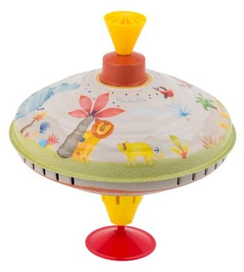 Moulin Roty Les Papoum Large Toy Metal Spinning Top