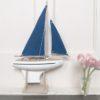 Toy Wooden Waterproof Sailing Boat Ocean Blue