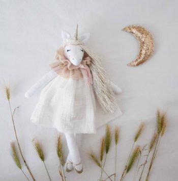 Unicorn Doll Gentle White Handmade in Provence