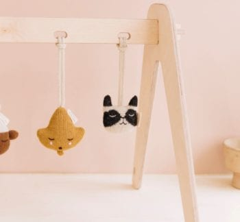 Main Sauvage Knit Toy Baby Gym