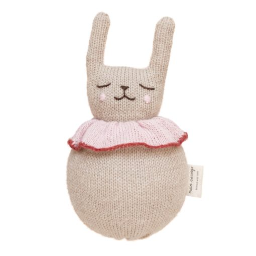 Main Sauvage Roly Poly Rabbit Baby Rattle