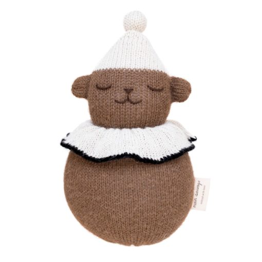 Main Sauvage Roly Poly Teddy Baby Rattle