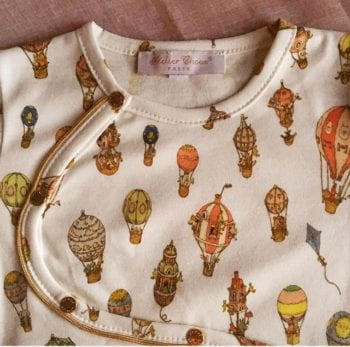 Atelier Choux Baby Onesie Rive Gauche Hot Air Balloon