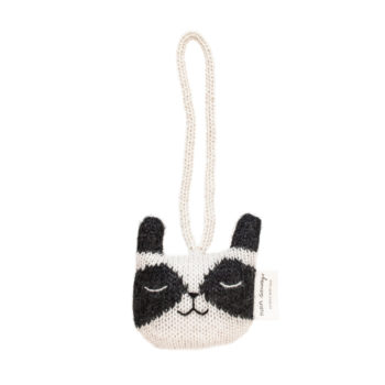 Main Sauvage Cat Baby Gym Knit Toy