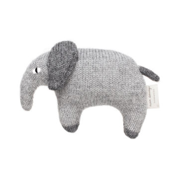 Main Sauvage Elephant Teddy Knit Toy