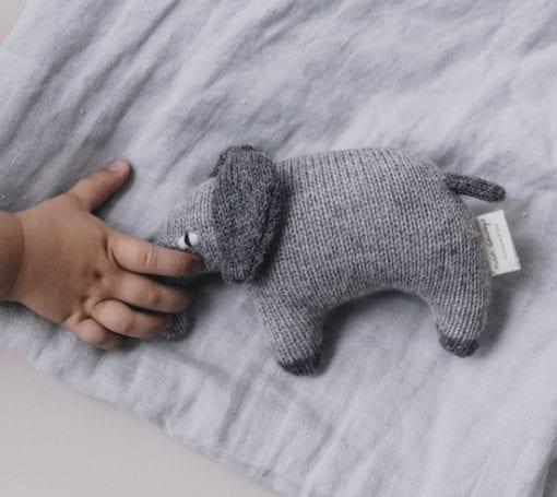 Main Sauvage Elephant Teddy Knit Toy