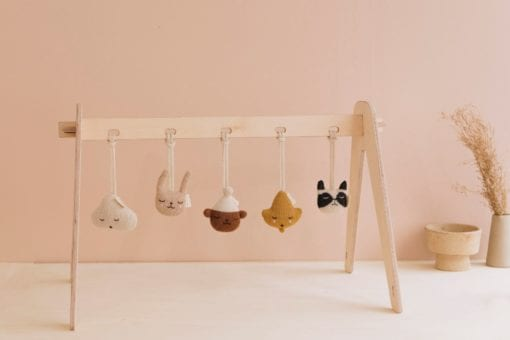 Main Sauvage Musical Rattle Baby Knit Toys
