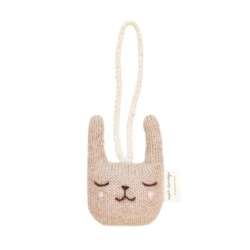 Main Sauvage Rabbit Baby Gym Knit Toy