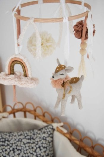 Little Fawn French Bebe Nursery Mobile